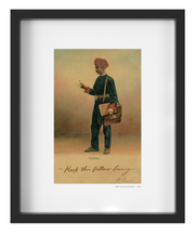 "Vintage ""Keep This Fellow Busy"" - Indian Postman India Art Print - British Malaya Shop"