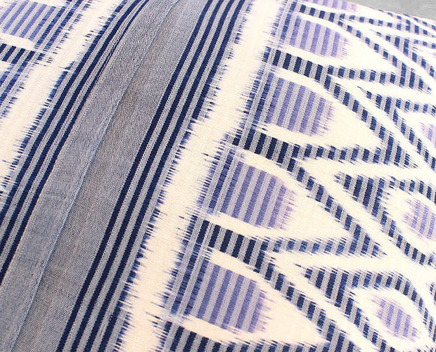 Square Indigo Ikat Handwoven Pillow Cover from Java - British Malaya Shop