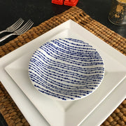 Set of 4 Japanese Blue & White Bamboo Pattern Dessert/ Salad Plates - British Malaya Shop
