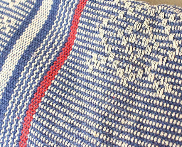 Sumba Mountain Indigo Handwoven Ikat Pillow Cover from Indonesia - British Malaya Shop
