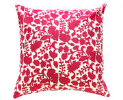 Red Chinoiserie Batik Pillow Cover Handmade in Java - British Malaya Shop