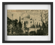 Vintage 1906 Taj Mahal and Gardens - Agra, India Art Print - British Malaya Shop