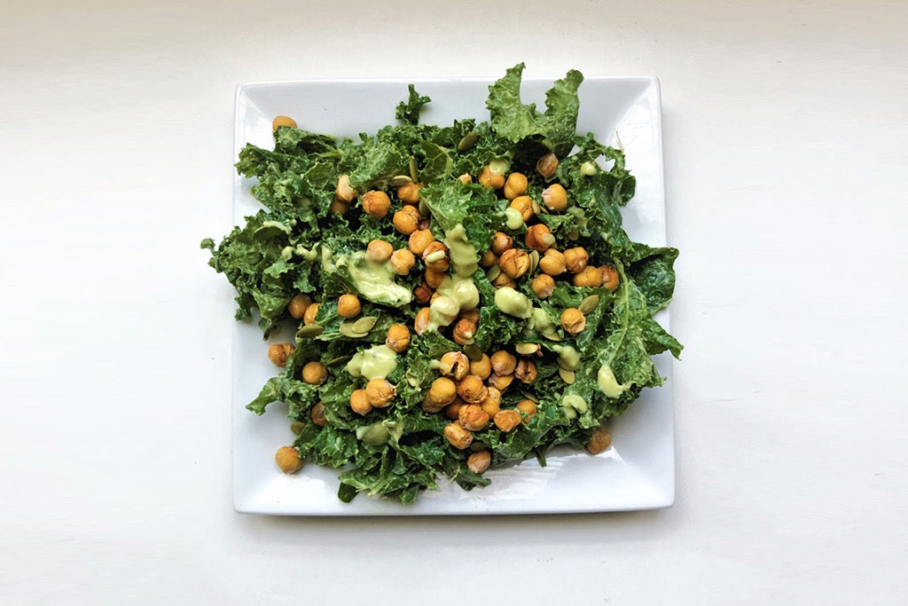 This Kale Caesar Salad Recipe Is a Lunch Staple