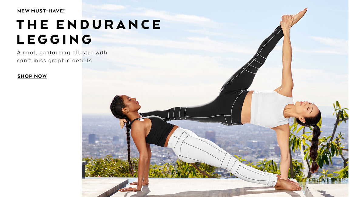 New must-have! The Endurance Legging: a cool, contouring all-star with can't-miss graphic details