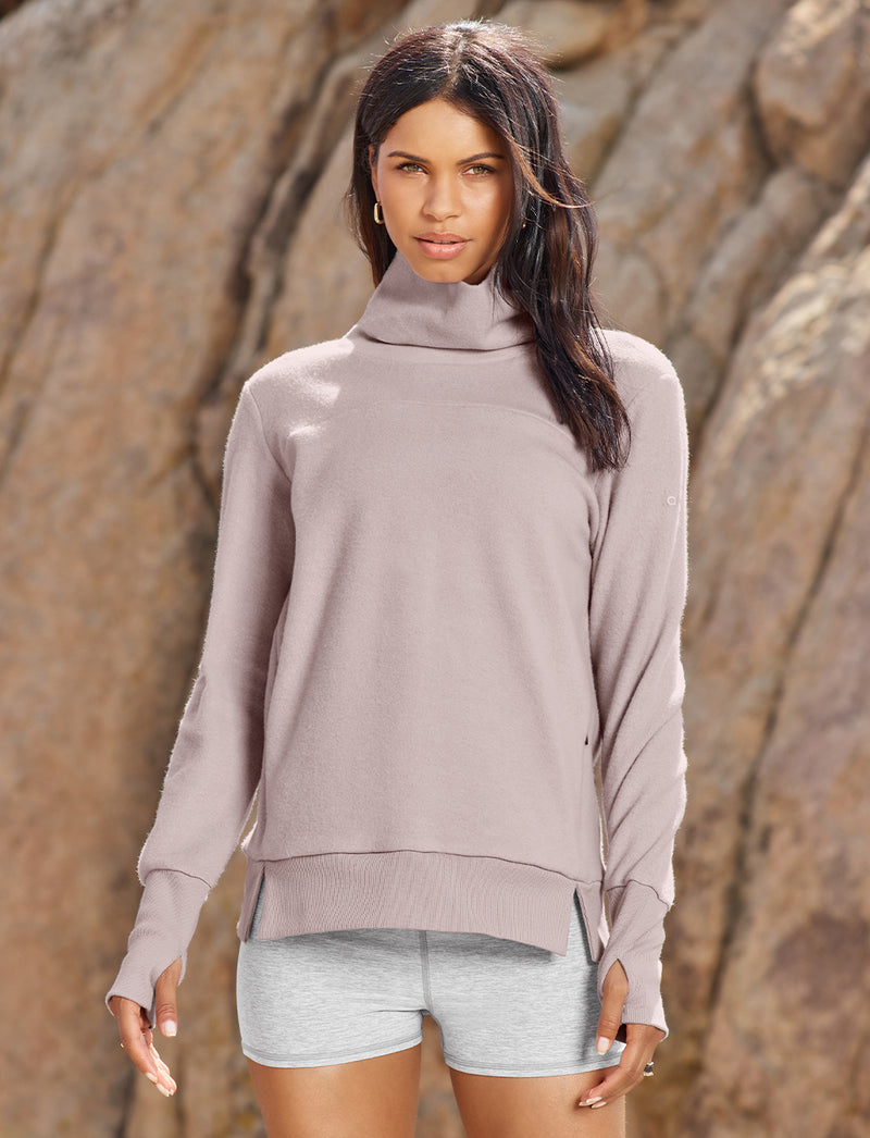 woman in grey alolux set
