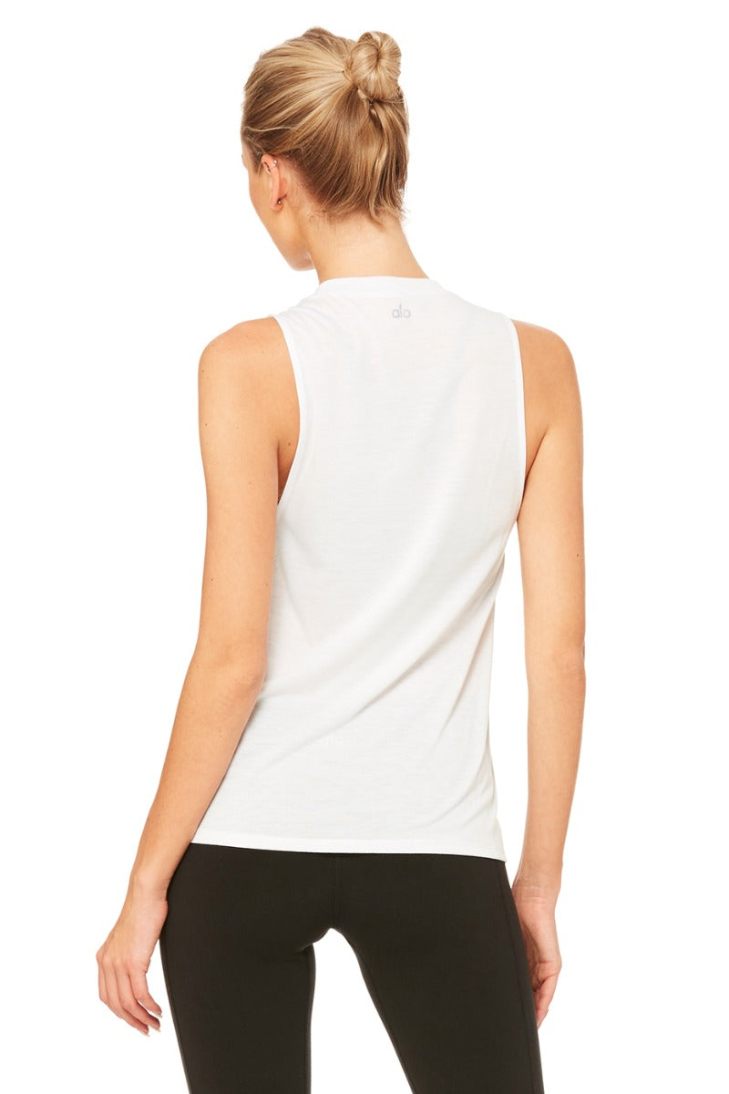 High Low Graphic Muscle Tank