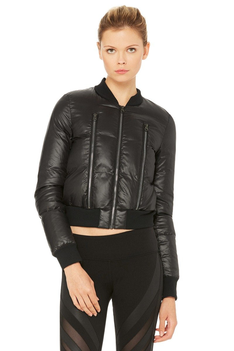 Off-Duty Bomber Jacket - Black/Black