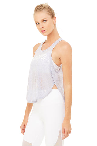 Alo Yoga - side slit flowy graphic tank