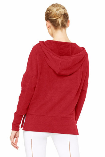 Fluid Tunic - Red Velvet Heather