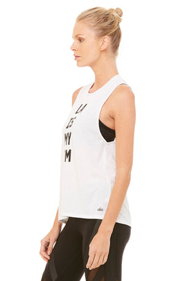 Alo Yoga - high low graphic muscle tank