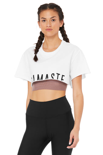 Limited-Edition Exclusive Namaste Cropped Tee