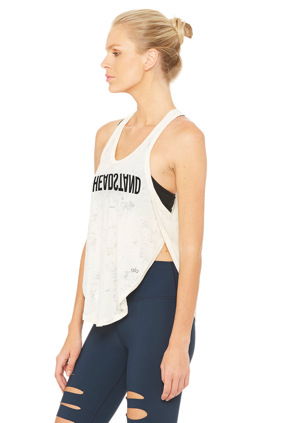 Side Slit Flowy Graphic Tank