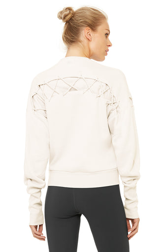 Hook-Up Long Sleeve Top - Pristine