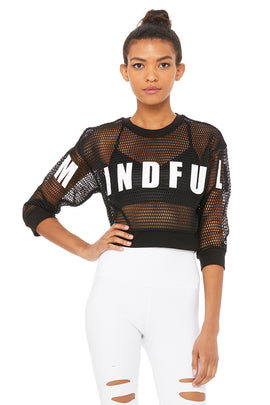 Structured Graphic Mesh Pullover