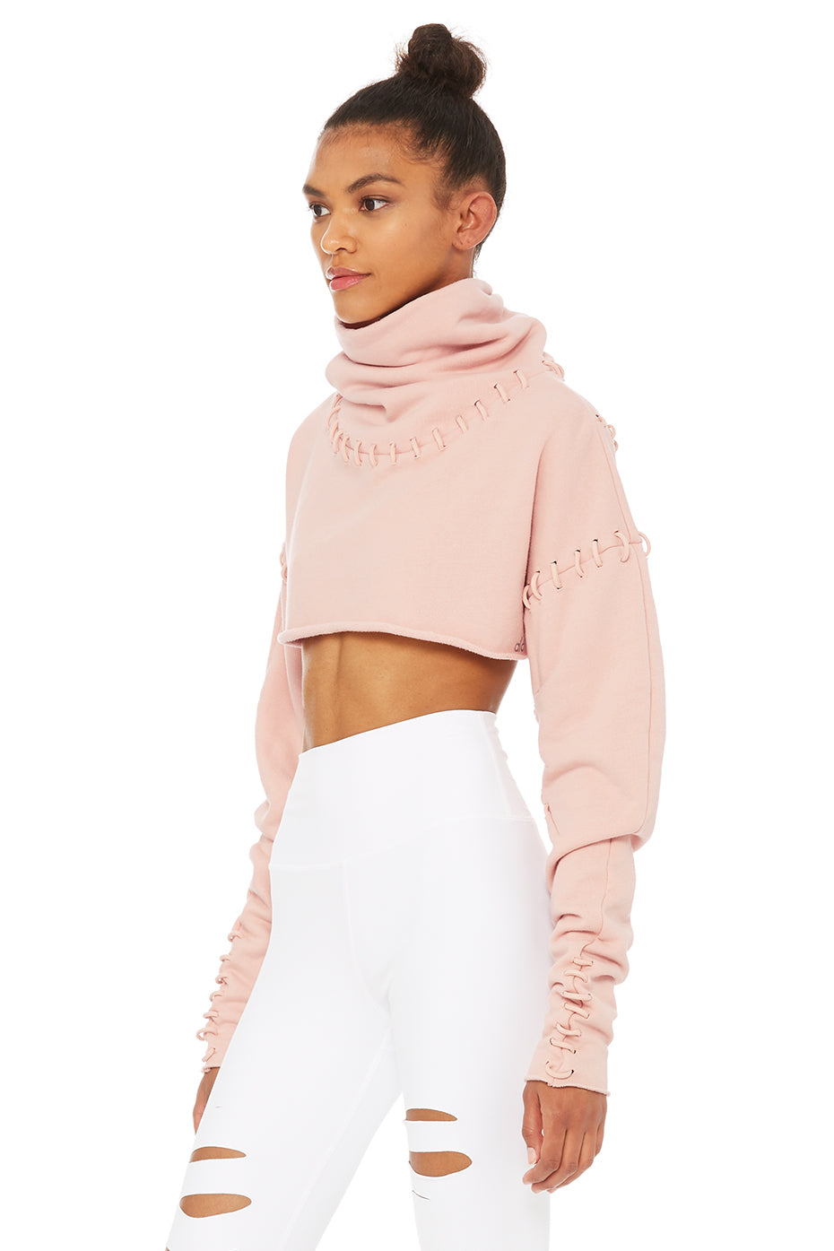Splice Long Sleeve Crop
