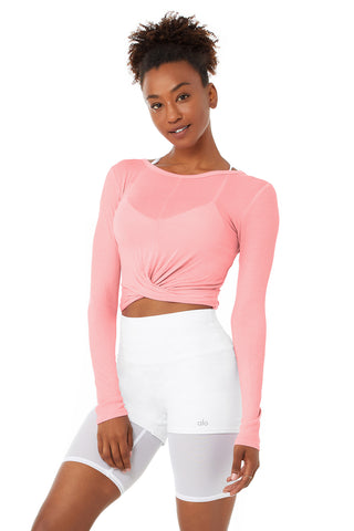 Cover Long Sleeve Top - Macaron Pink
