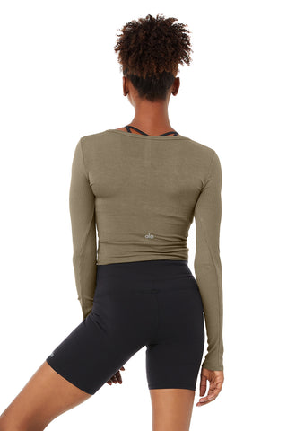 Cover Long Sleeve Top - Olive Branch