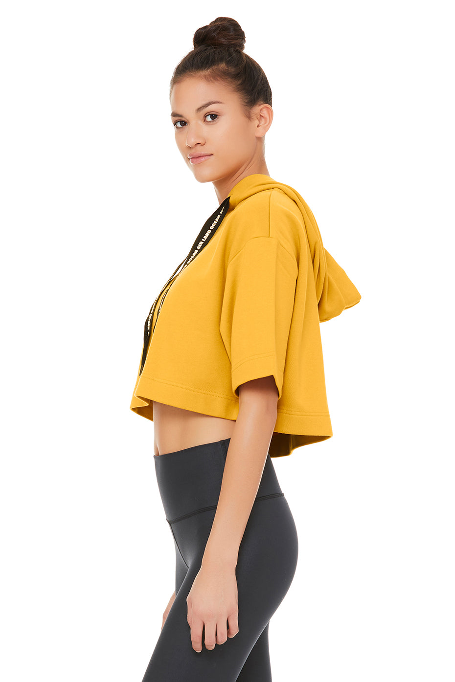 Air Land Ocean Short Sleeve Crop Hoodie