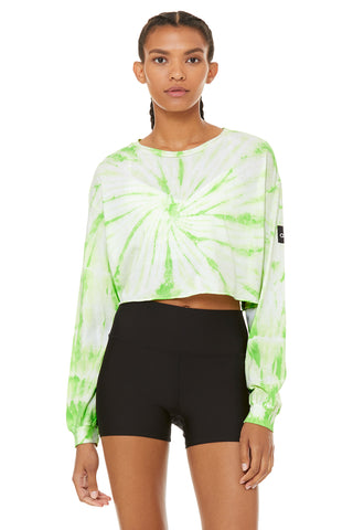 Tie-Dye Cropped Long Sleeve