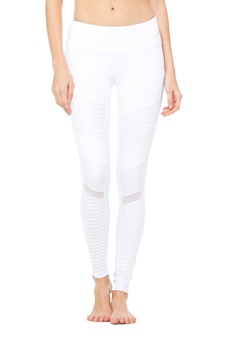 Alo Yoga Moto pant in white
