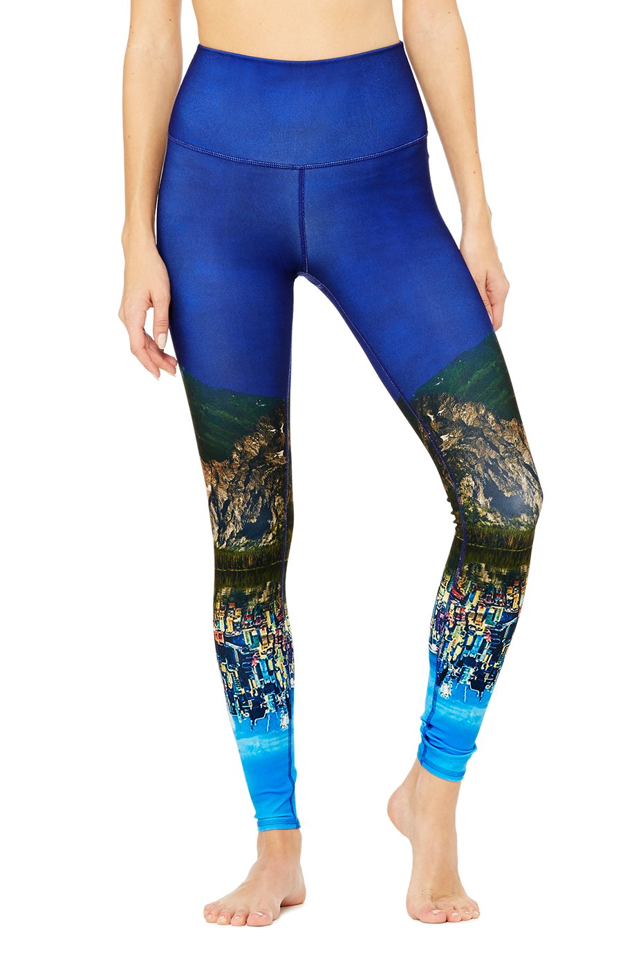 High-Waist Airbrush Legging - Engineered Print