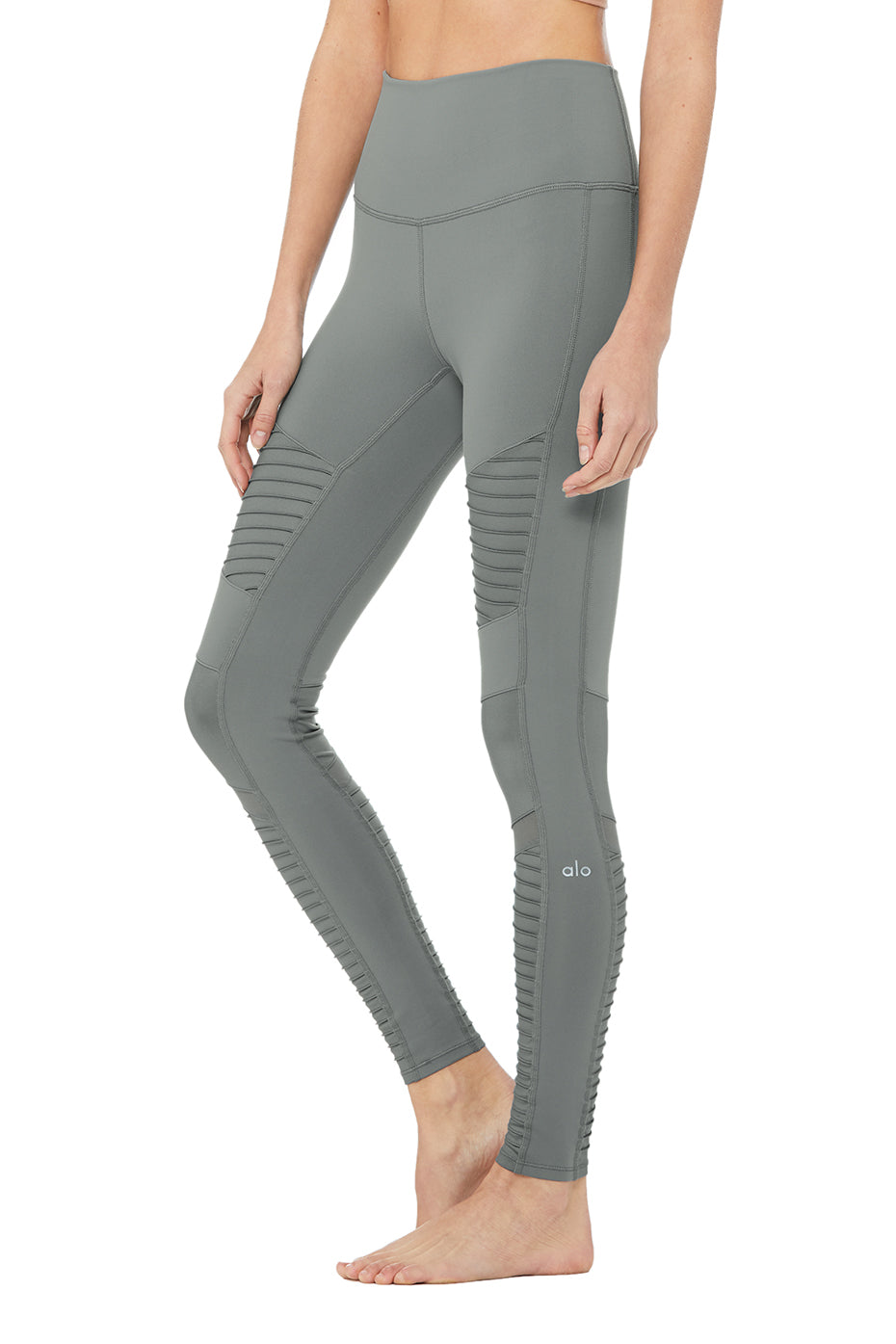 High-Waist Moto Legging