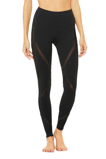 High-Waist Laced Legging - Black