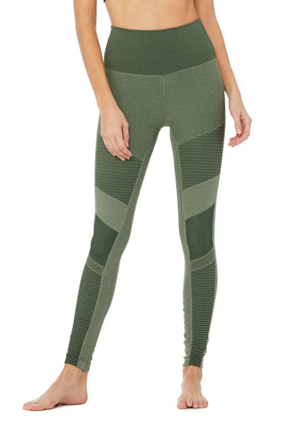 High-Waist Seamless Moto Legging