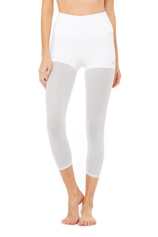 High-Waist Sheer Capri