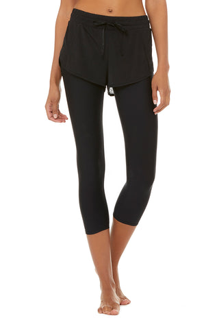 High-Waist 2-In-1 Capri
