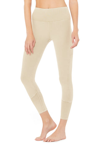 7/8 High-Waist Alo Sueded Lounge Legging