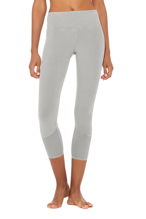 7/8 High Waist Alo Sueded Lounge Legging by Aloyoga