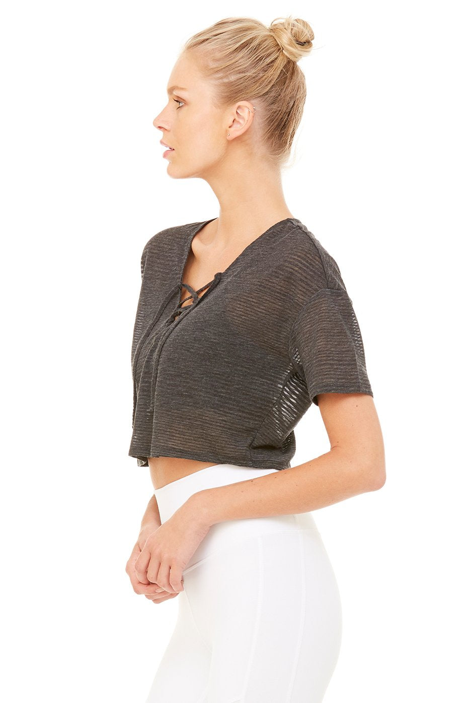Interlace Short Sleeve Top