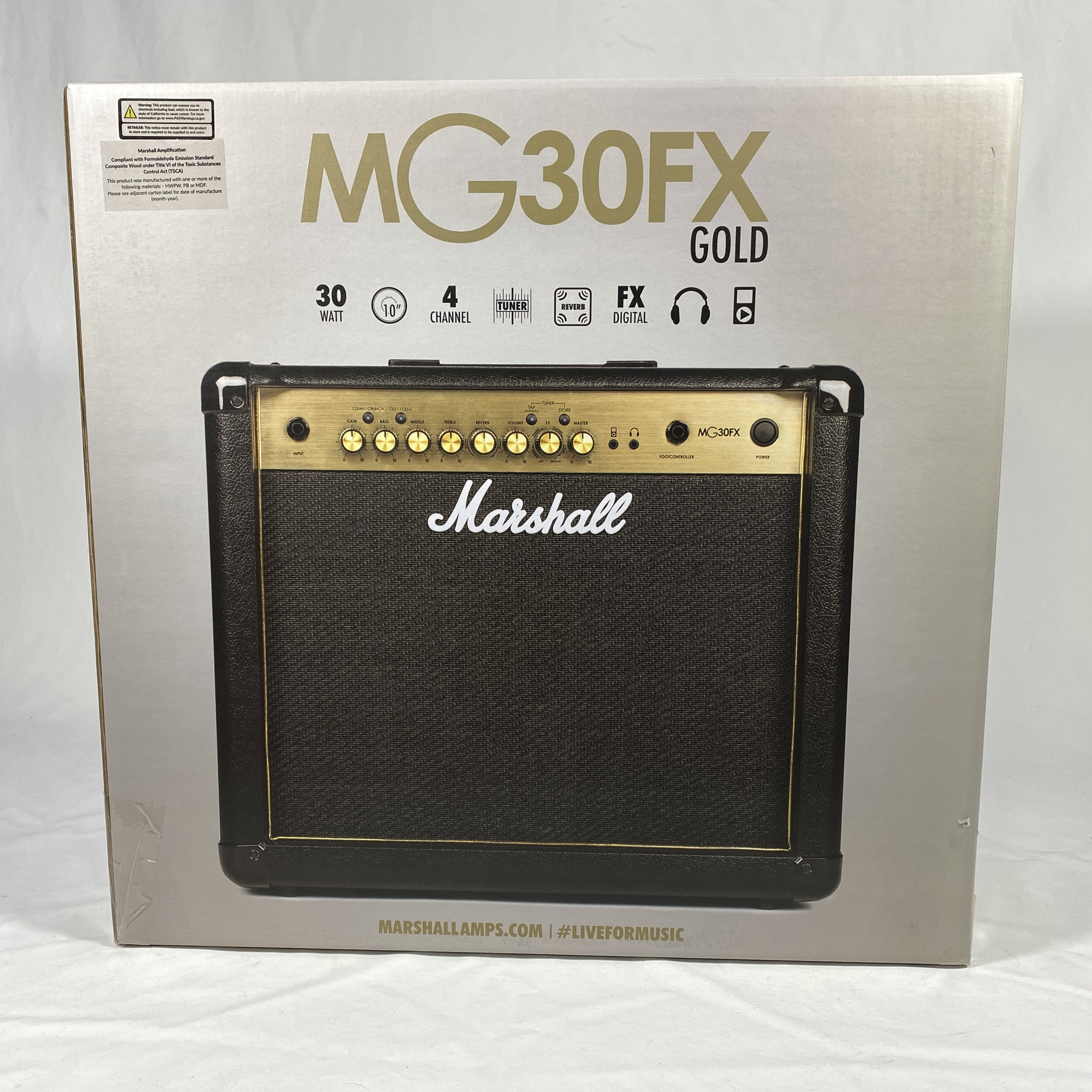 Marshall MG Gold MG30GFX 30W 1x10 inch Electric Guitar Combo Amplifier - Black