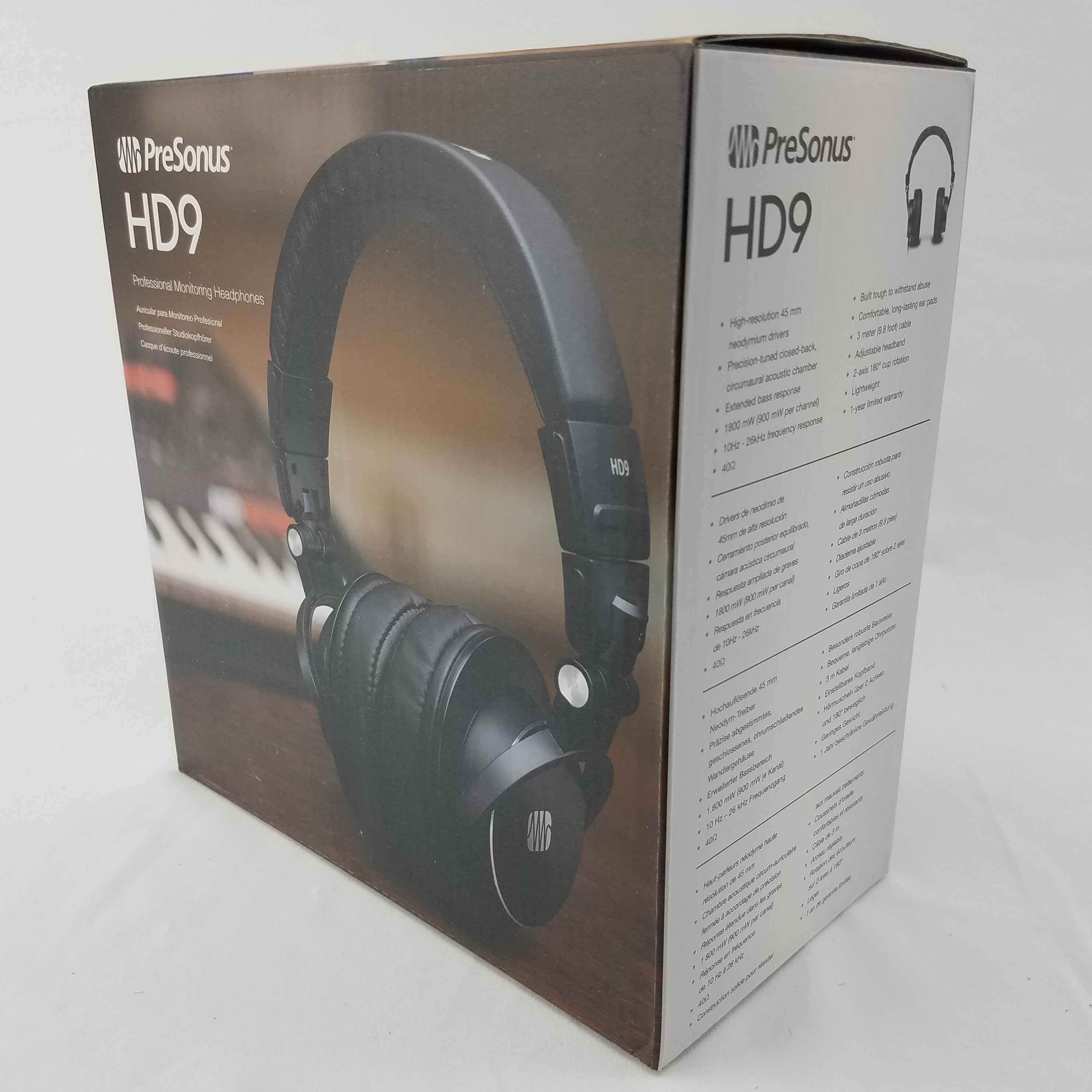 PreSonus HD9 Professional Monitoring Headphones Great for Recording & Podcasting