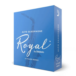 Rico Royal Alto Sax Reeds sealed 10 Pack Filed Cut Choose Strength 2.5, 3, 3.5, 4