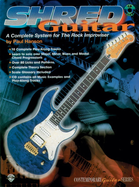 Shred Guitar A Complete System for the Rock Improviser Book w/CD
