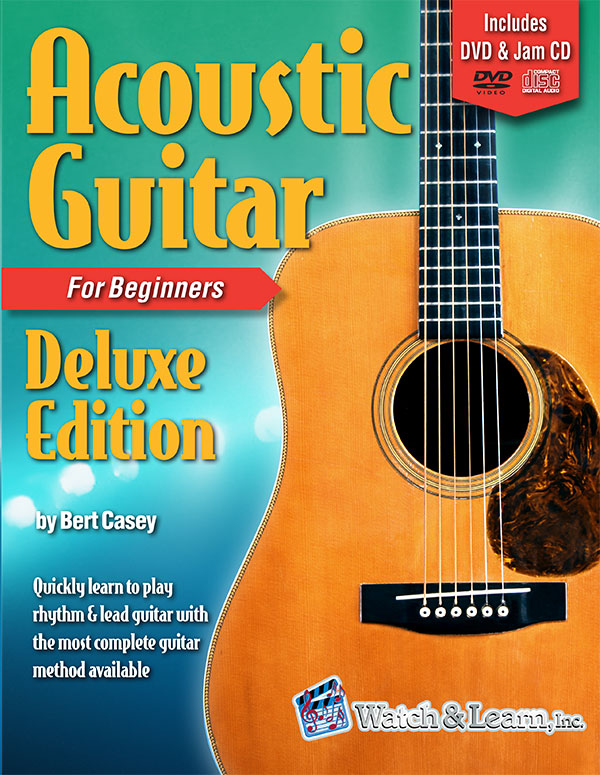 Watch & Learn Acoustic Guitar Primer Deluxe Edition Book For Beginners