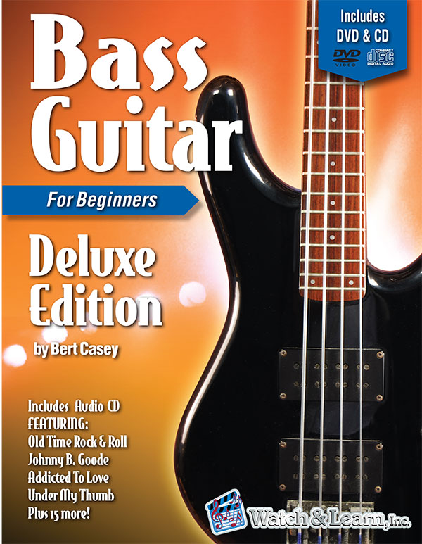 Watch & Learn Bass Guitar Primer Deluxe Edition Book for Beginners