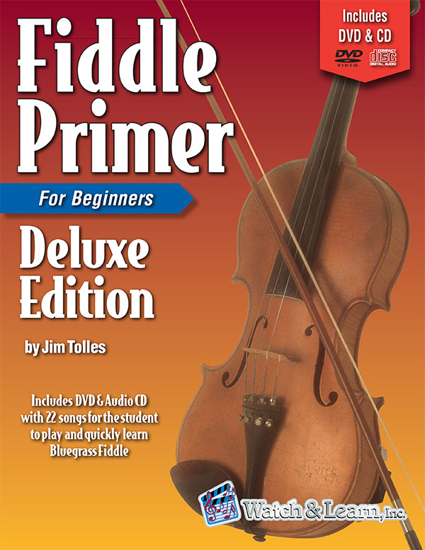 Watch & Learn Fiddle Primer Deluxe Edition Book for Beginners