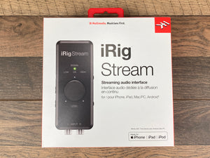 iRig Stream Streaming Audio Interface