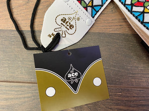 D'Andrea DN-ACE03 Reproduction of Vintage ACE Branded Guitar Strap Stained Glass