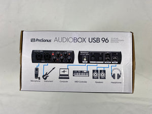 Presonus Audiobox USB 96 Podcast Audio Interface 25th Anniversary Black Edition