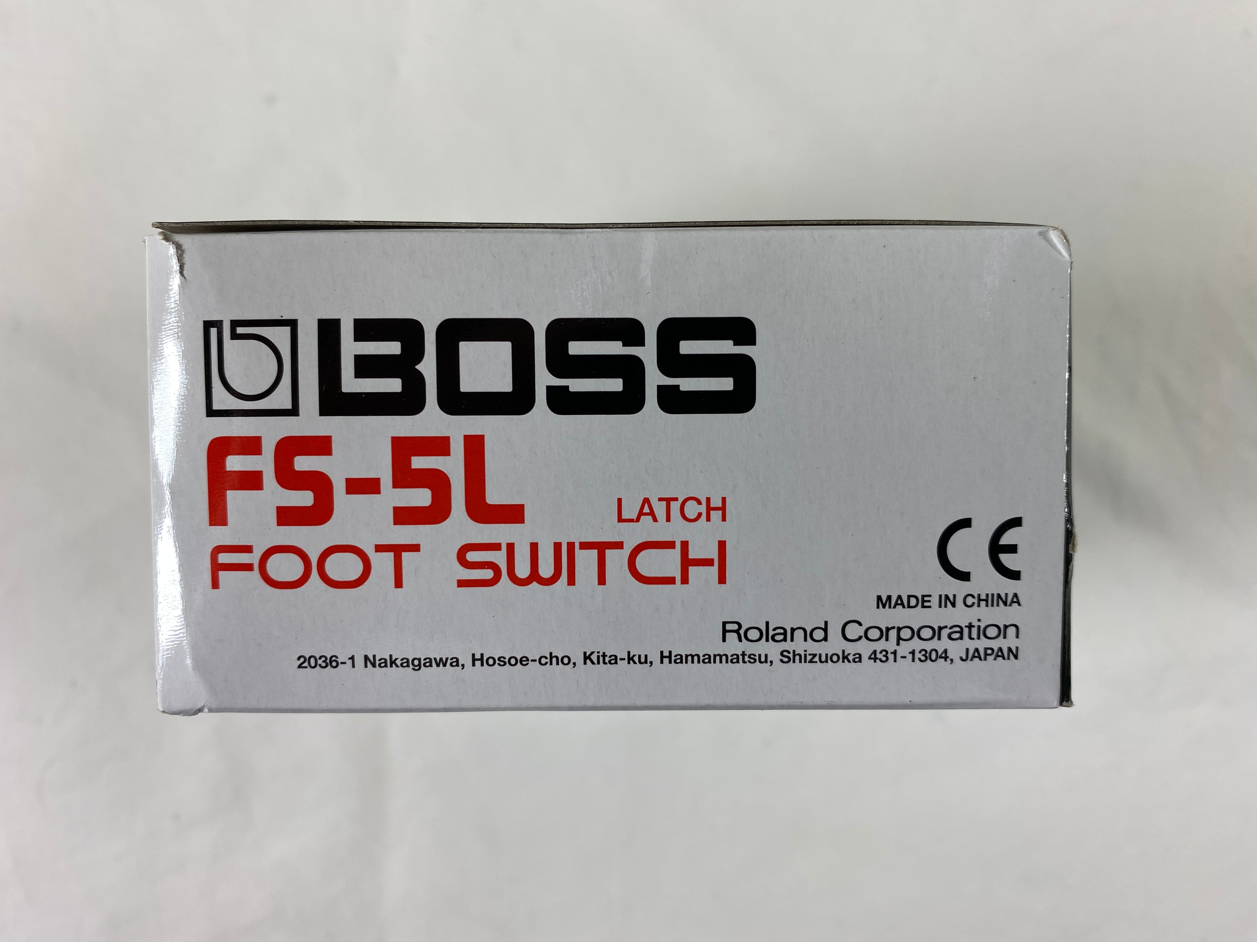 Boss FS-5L Heavy Duty Metal Footswitch with Latching Type switch