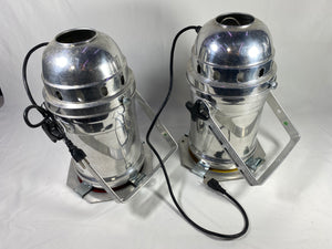 USED Par 64 Light Fixture Aluminum Can w/ 500 watt bulb U bracket and Gel Frame Pair