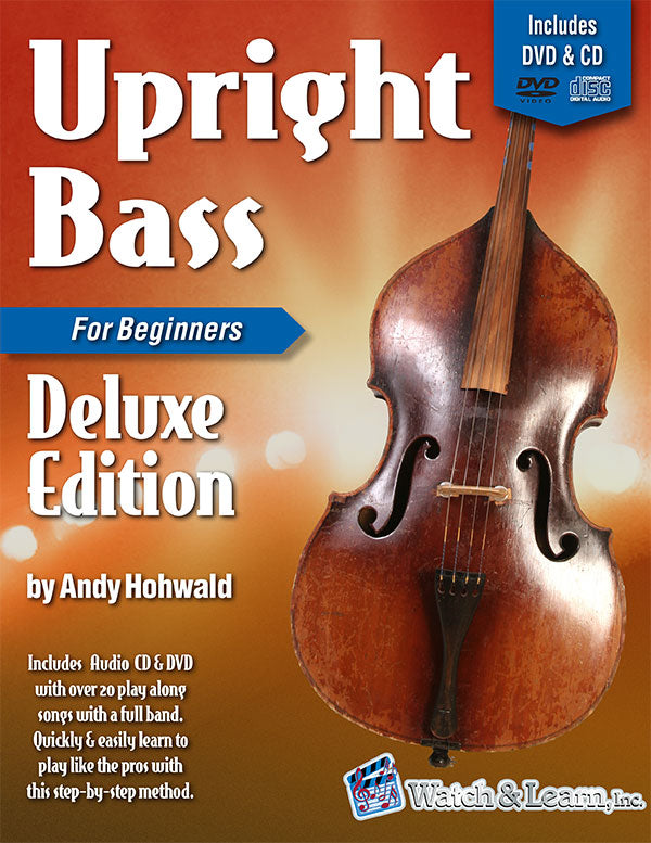 Watch & Learn Upright Bass Primer Deluxe Edition Book for Beginners