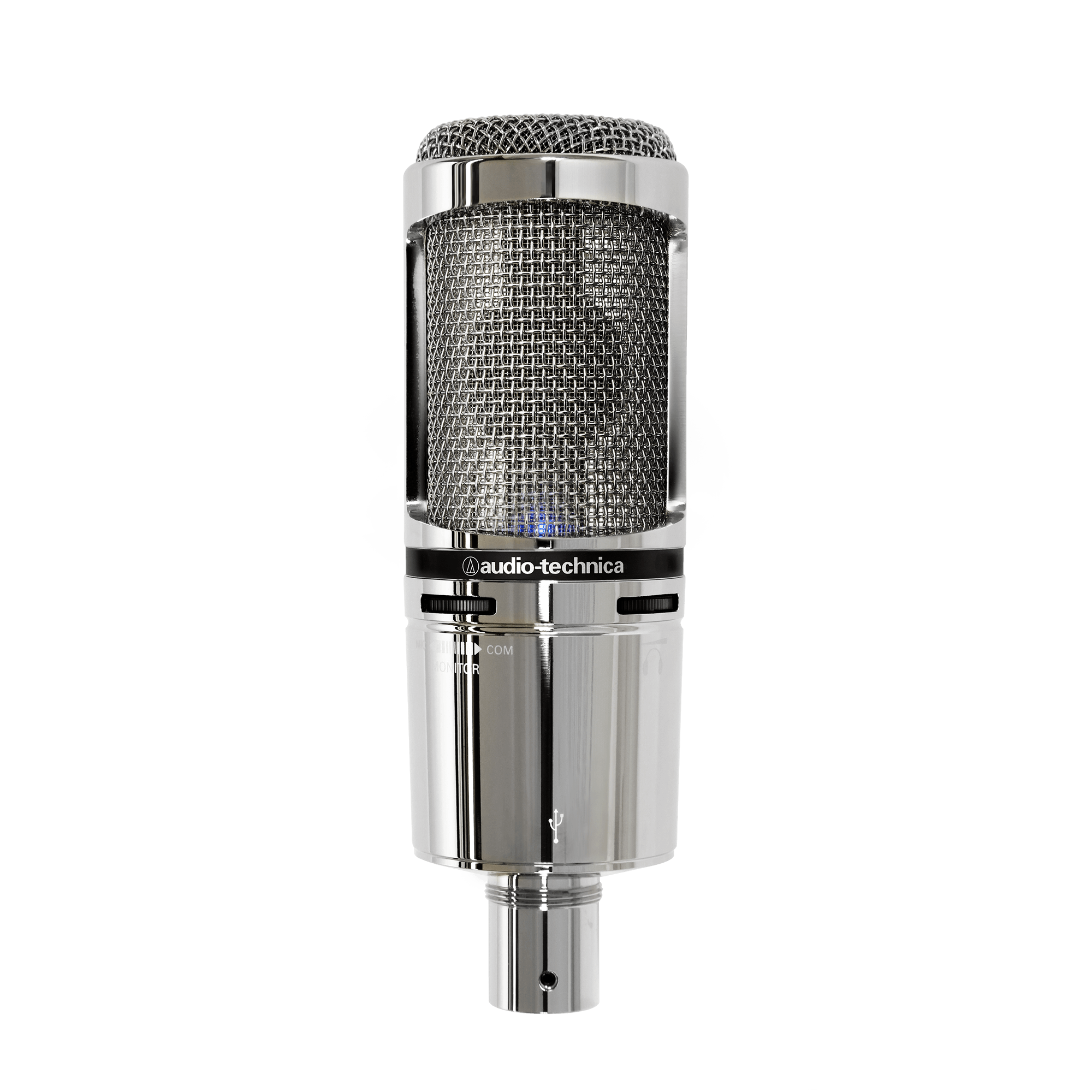 AT2020USB+V USB Condenser Microphone for Studio and Podcasting Silver Edition