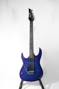 Ibanez GRX70QAL-TBB LEFT-HANDED 6-String Electric Guitar Transparent Blue Burst