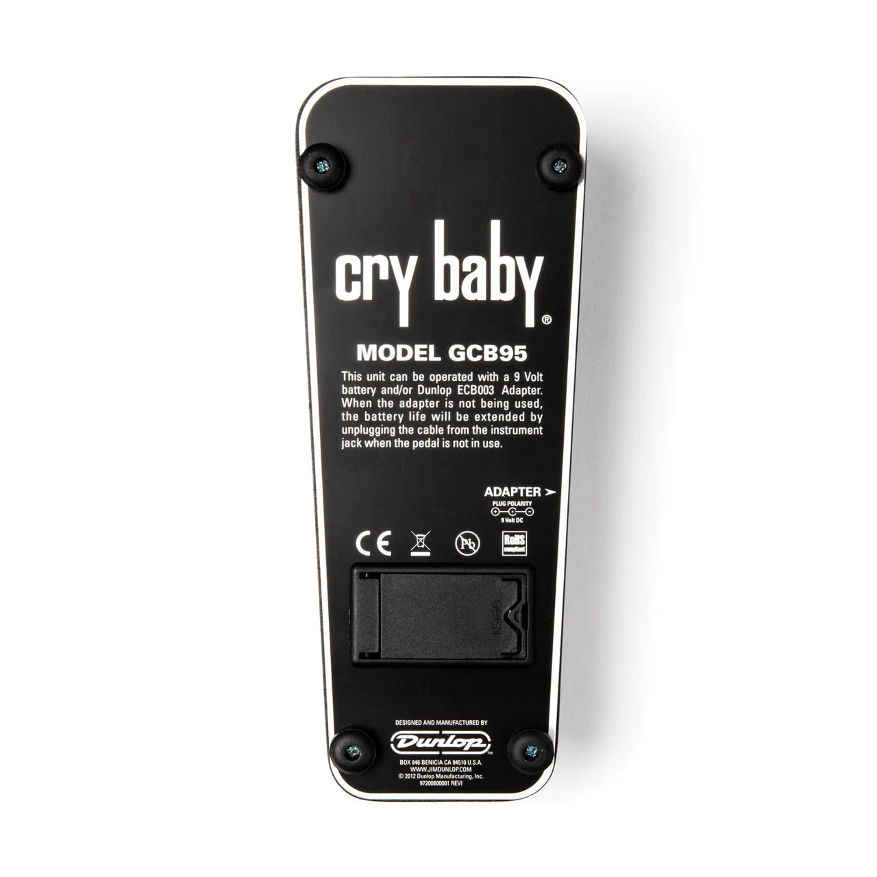 Dunlop The Original Cry Baby Wah Guitar Effects Pedal Standard GCB95