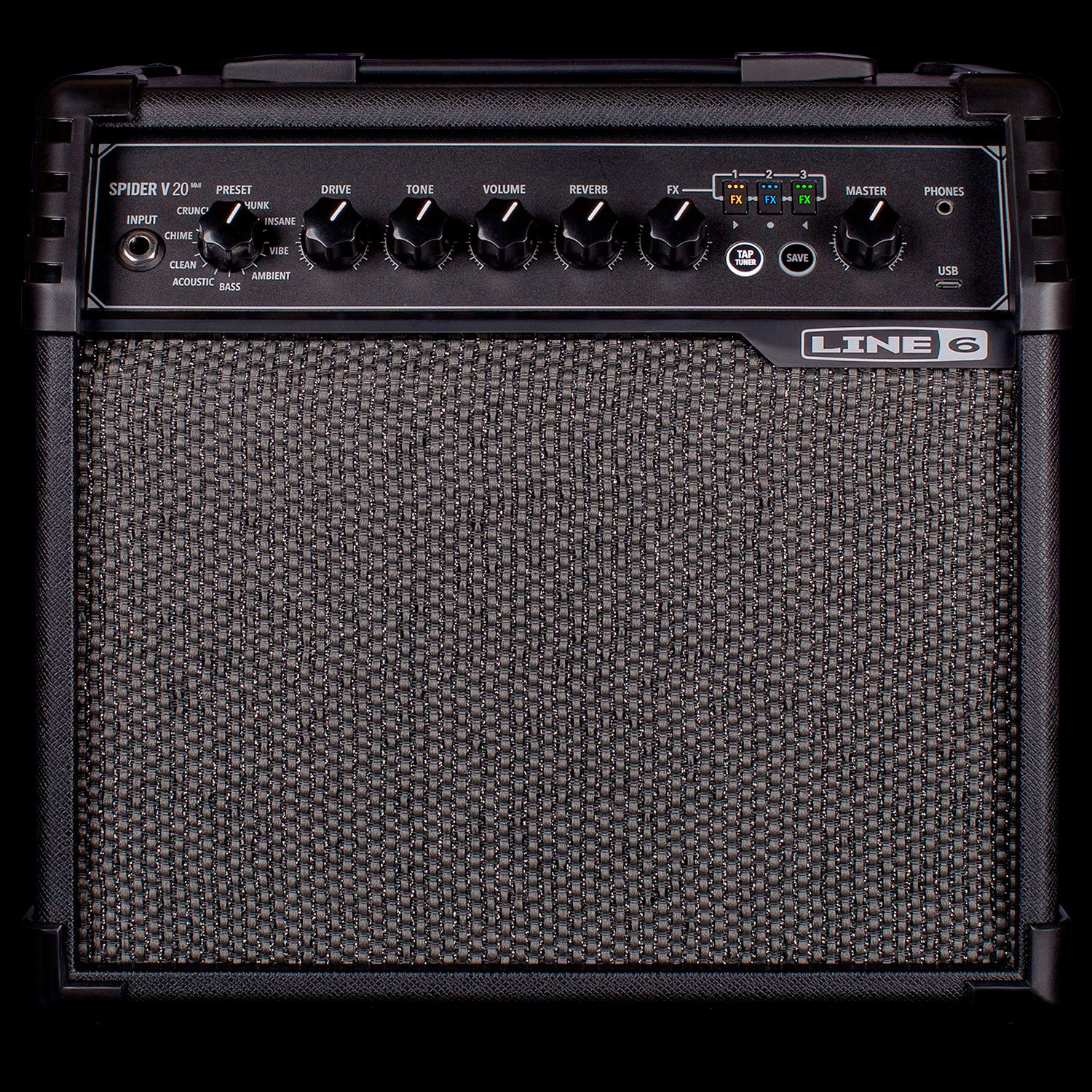 Line 6 Spider V 20 MkII 1X8 20 Watt Guitar Modeling Combo Amp with Effects